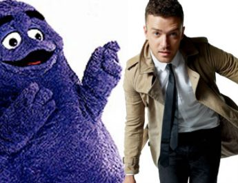 Controversy: Justin Timberlake SuperBowl Ad Featuring Grimace Hologram